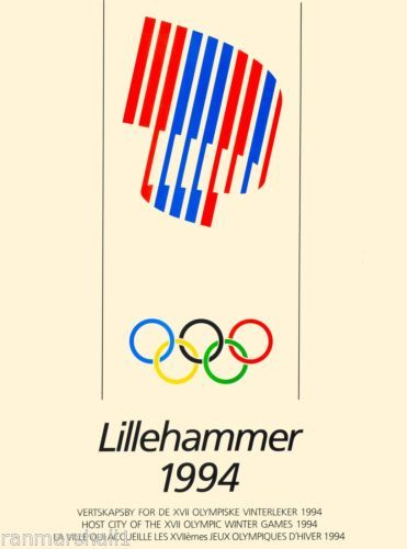 1994-Lillehammer-Norway-XVII-Olympic-Games-Travel-Advertisement-Poster ed0f2adc80f8
