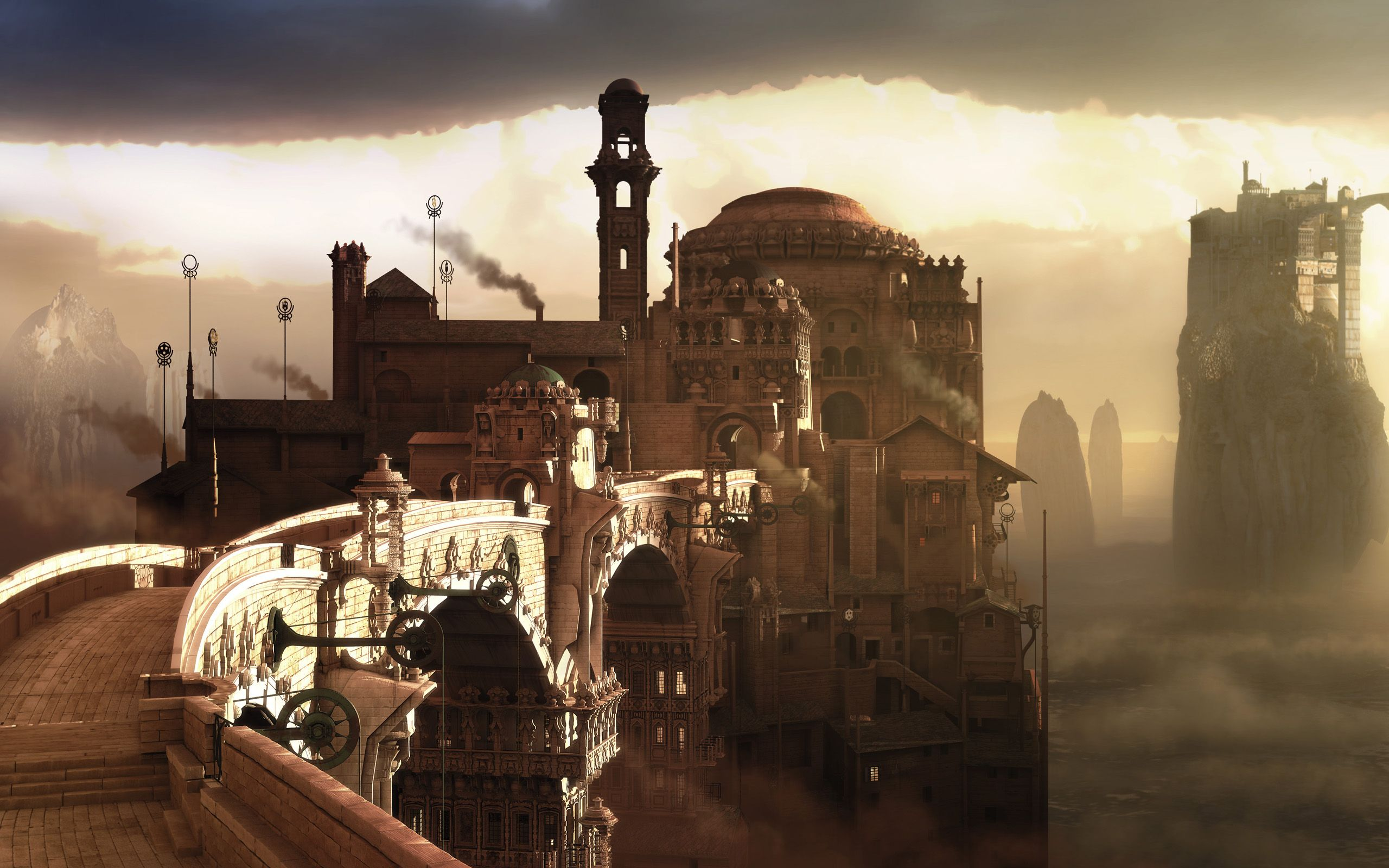 steampunk city names - HD 2560×1600