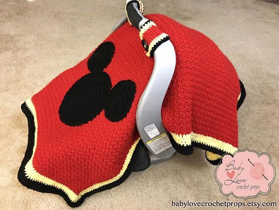 Disney Mickey Mouse Ears Inspired Infant Baby Car Seat Bucket Cover ...