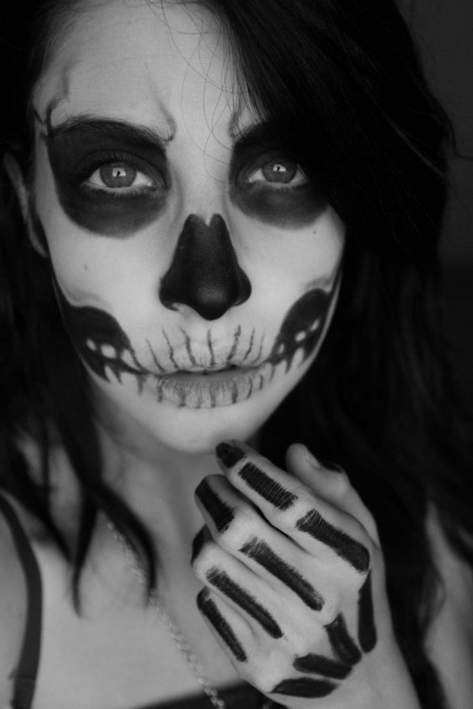 Best And Easy Scary Halloween Makeup   Makeup   Pinterest   Scary ...