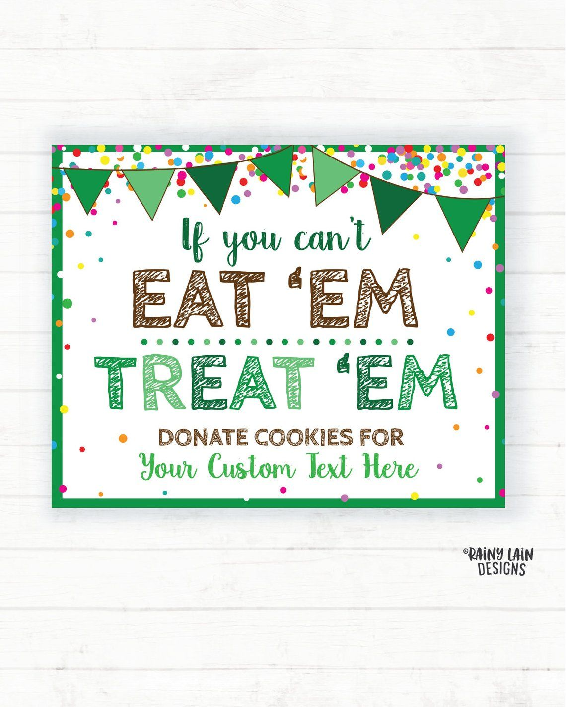 Custom Cookie Booth Printable Scout Cookie Sign Donate To