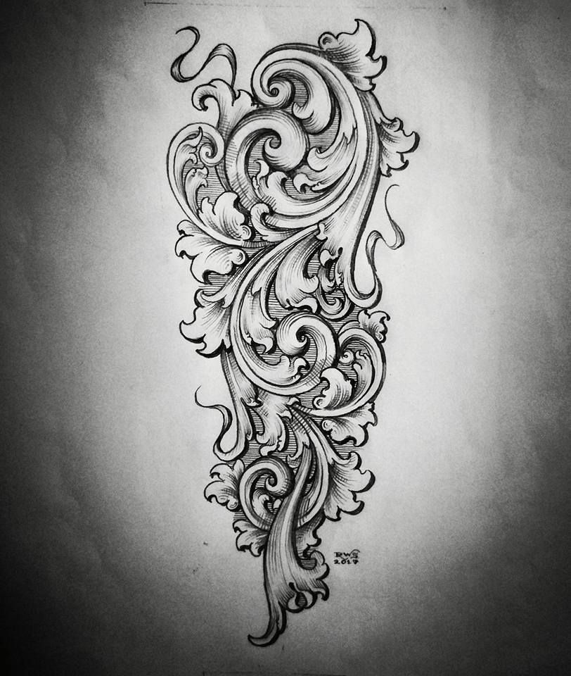 Image May Contain Drawing Filigree Tattoo Scroll Tattoos Filagree Tattoo,Simple Corner Border Designs For Projects