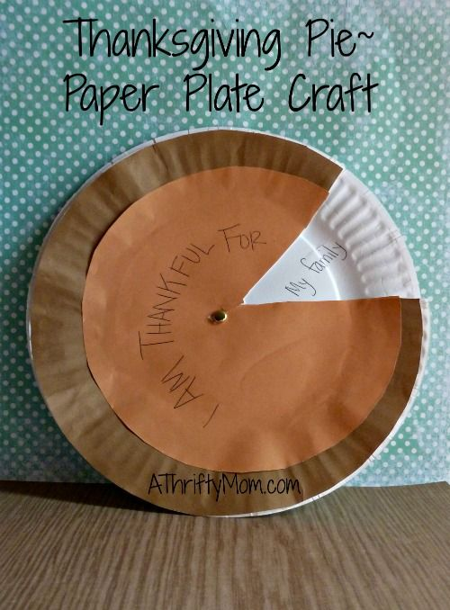 Thanksgiving pie paper plate craft & Thanksgiving pie paper plate craft | class room stuff | Pinterest ...