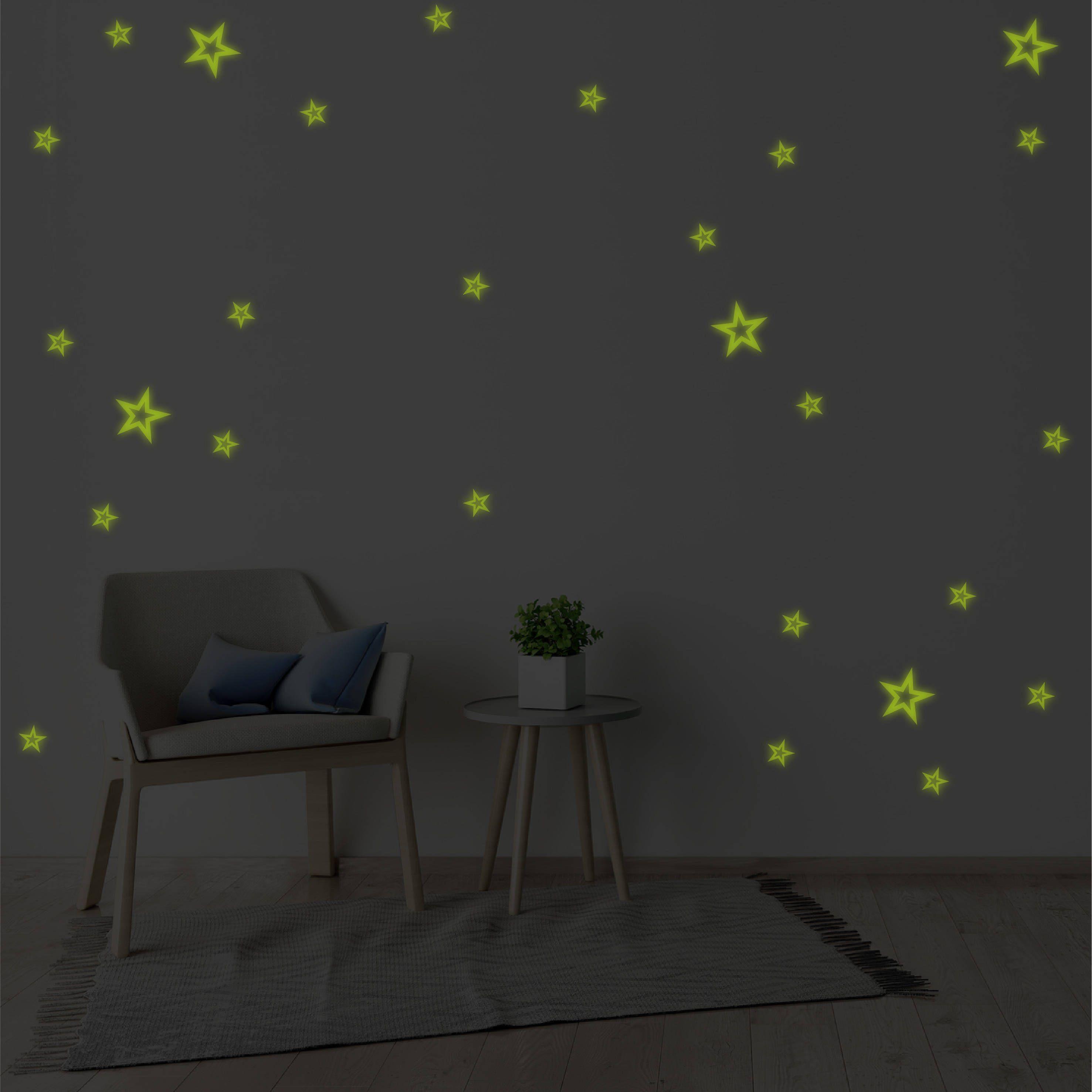 Glow In The Dark Stars Wall Sticker Pattern Wall Decal Nursery ...