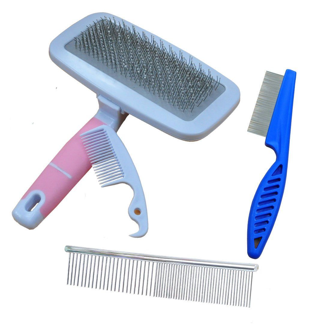 SONKI Brushs for Dogs and Cats Pet Grooming Brush Easily