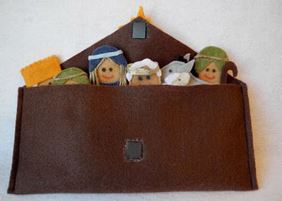 A Song of Sixpence: nativity finger puppet set