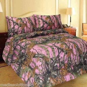 Pink Woods Camo Comforter And Sheet Set Full Size 7 Pc Bed In Bag Camouflage Pink Camo Bedroom Camo Comforter Camo Bedroom