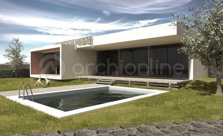Maison Johnson - Plan de maison Moderne réalisé par les architectes - facade de maison moderne