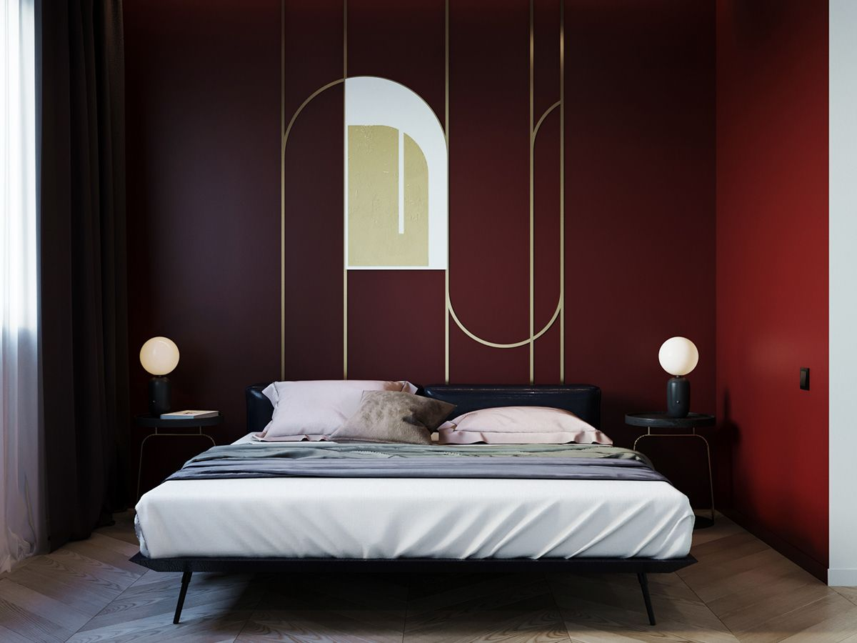 Burgundy apartment on behance interior design and