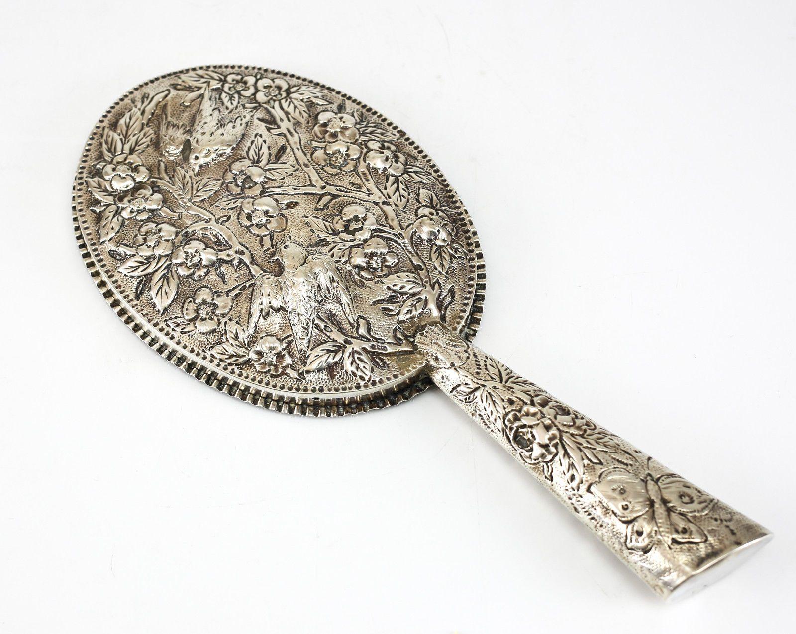 Rosenthal Jacob Co Birmingham Sterling Silver Hand Mirror