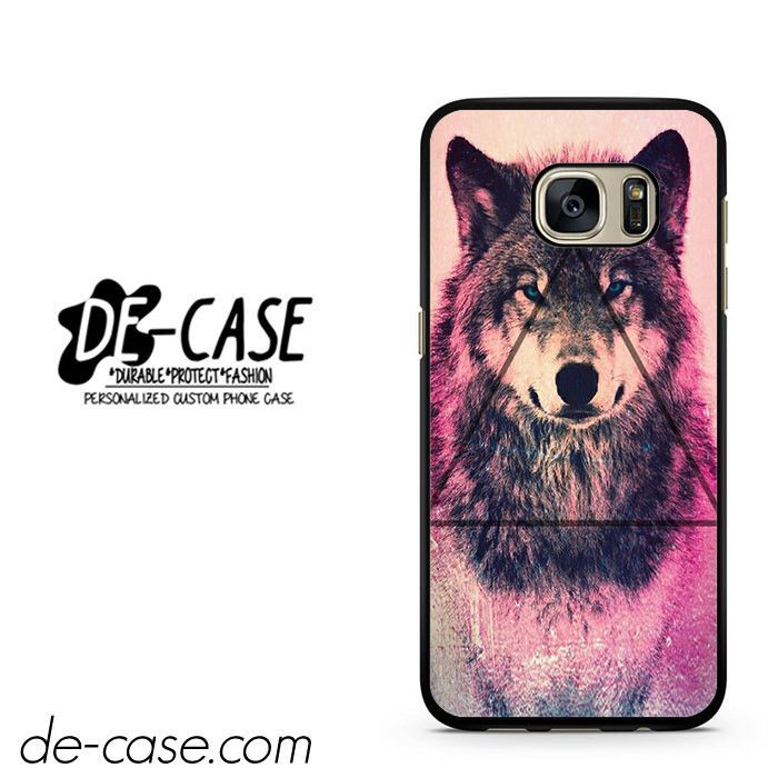 Pink Wolf Triangle DEAL-8729 Samsung Phonecase Cover For Samsung Galaxy S7 / S7 Edge