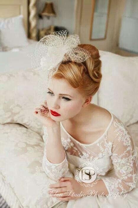 wedding hair # vintage# 50s hairstyle#