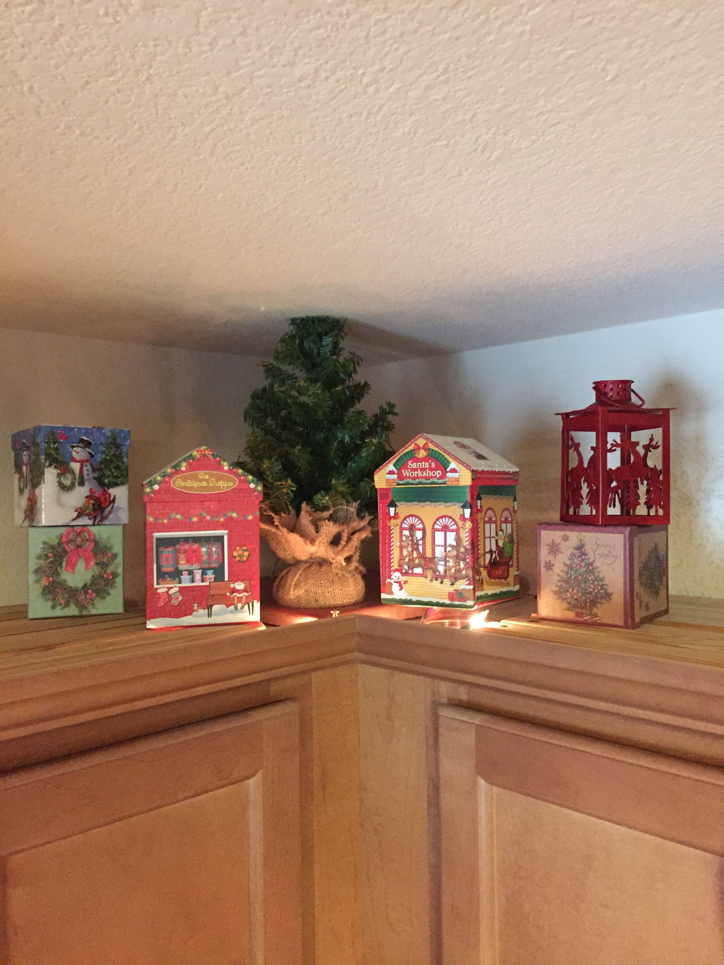 Pin by tina chesley on Christmas decor above kitchencabinets