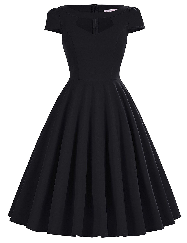 4s vintage rockabilly kleid swing kleid blumenkleid damen