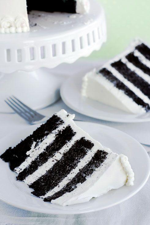 Whisk Kid: Think - {Chocolate Cake with Vanilla Italian Meringue Buttercream}