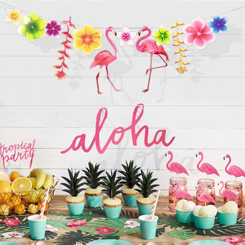 398beff305759d Barato Flamingo Tropical havaiano Guirlanda Decoração Fiesta Abacaxi ...
