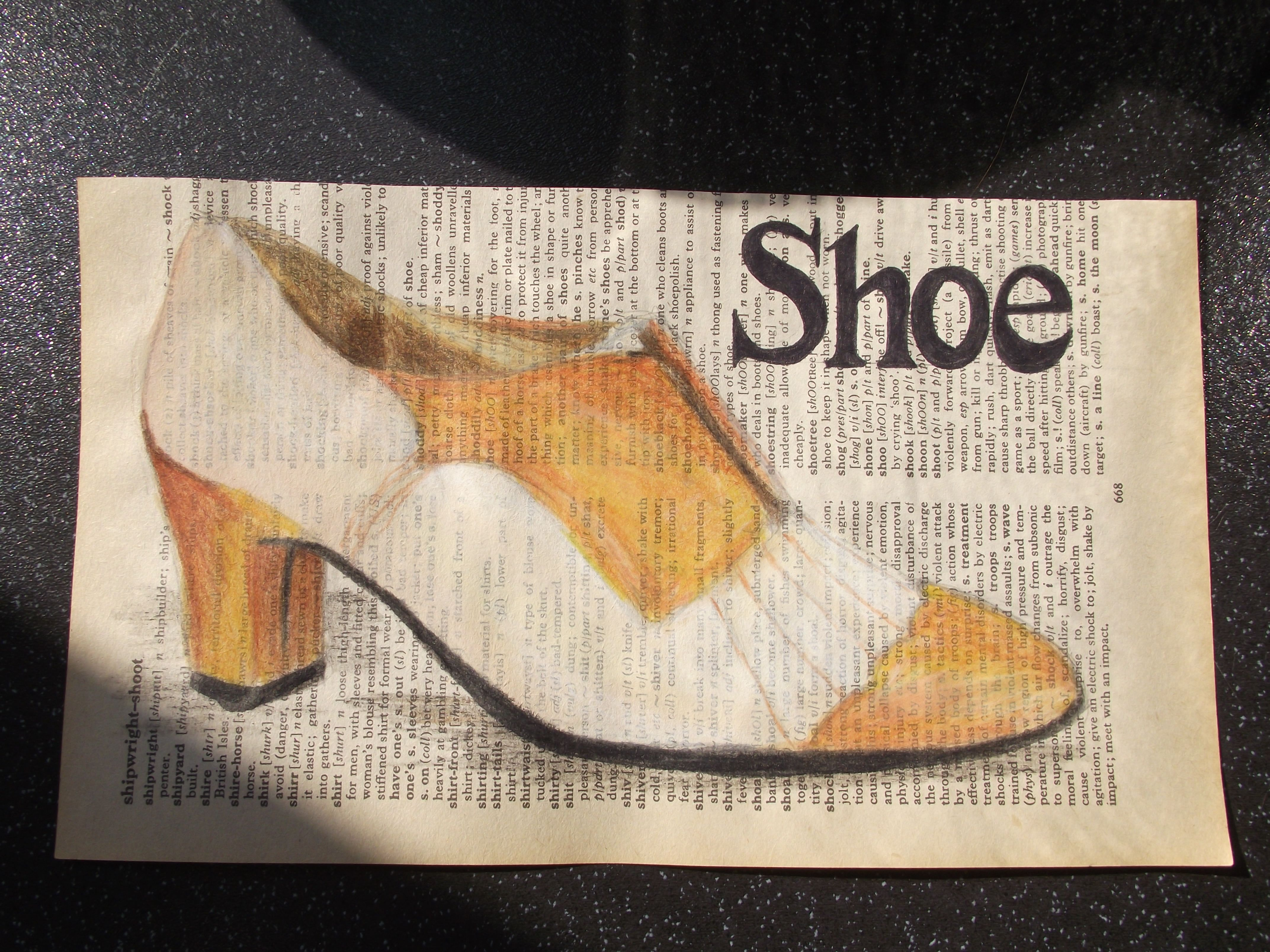 A pic of a shoe I drew in the style of Kristy Patterson xxx