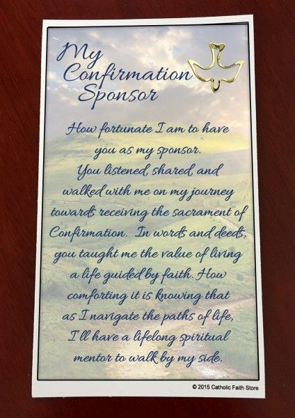 Confirmation Sponsor Pin and Card - Blue