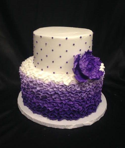 Purple Graduation Cakes