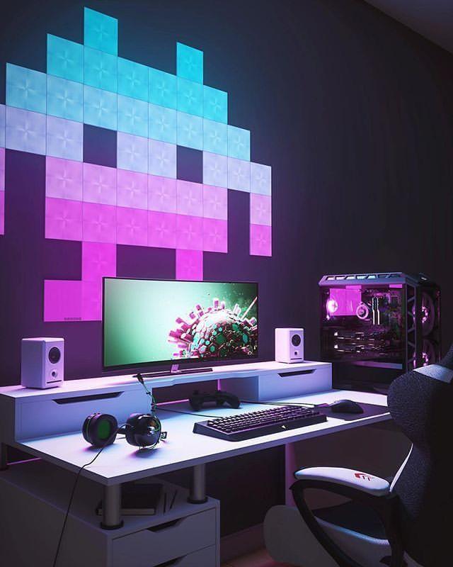 220 Gaming Room Inspiration Ideas Room Setup Gaming Room Setup Game Room Design