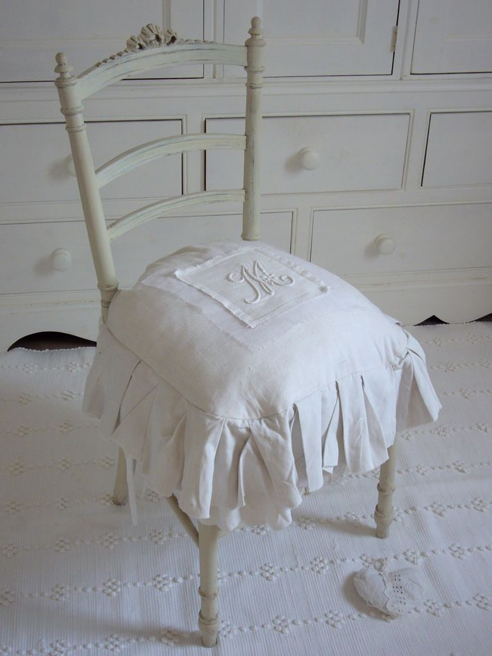 coussin chaise meubles shabby chic