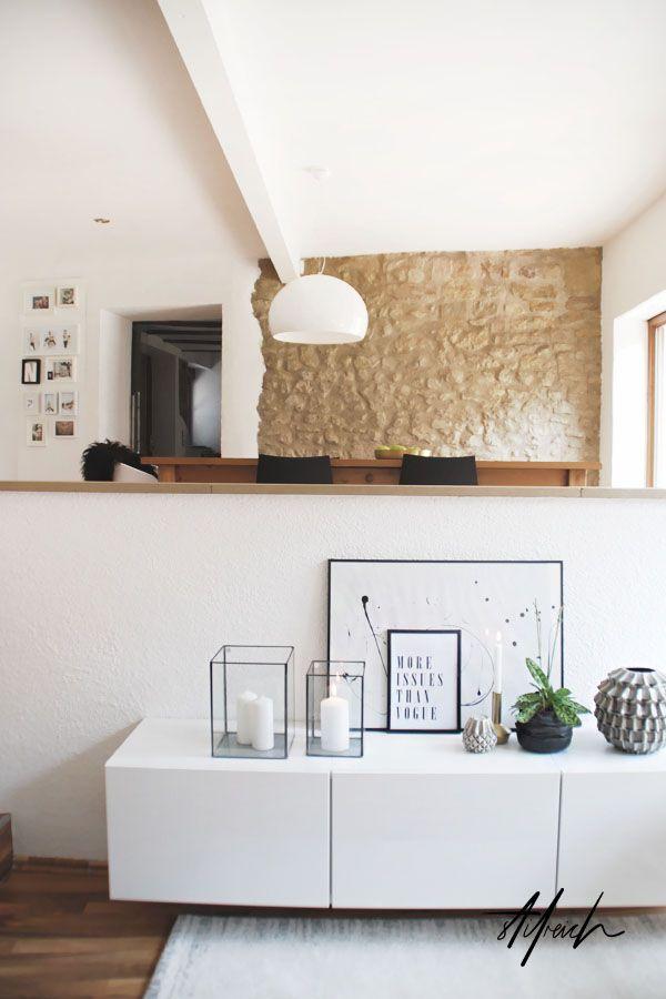 Wohnzimmereinblicke Regal Deko Wohnzimmer Wohnung Einrichten