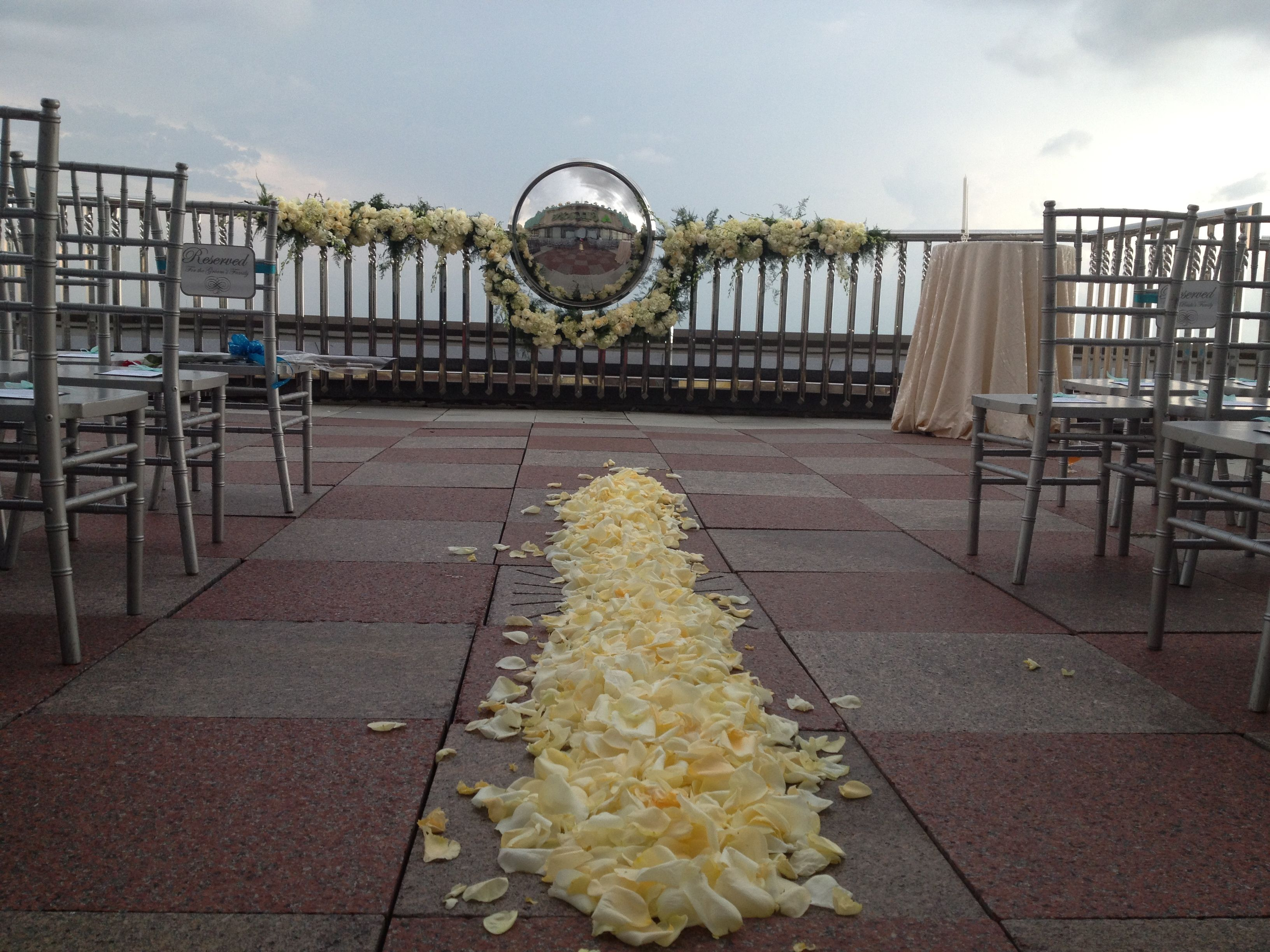 Petals On The Capital Club Overlook Terrace For A Montgomery Al Wedding