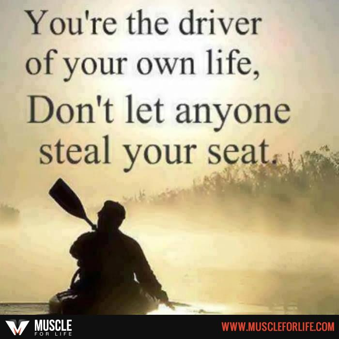You Can T Back Seat Drive Your Own Life Motivation Pinterest