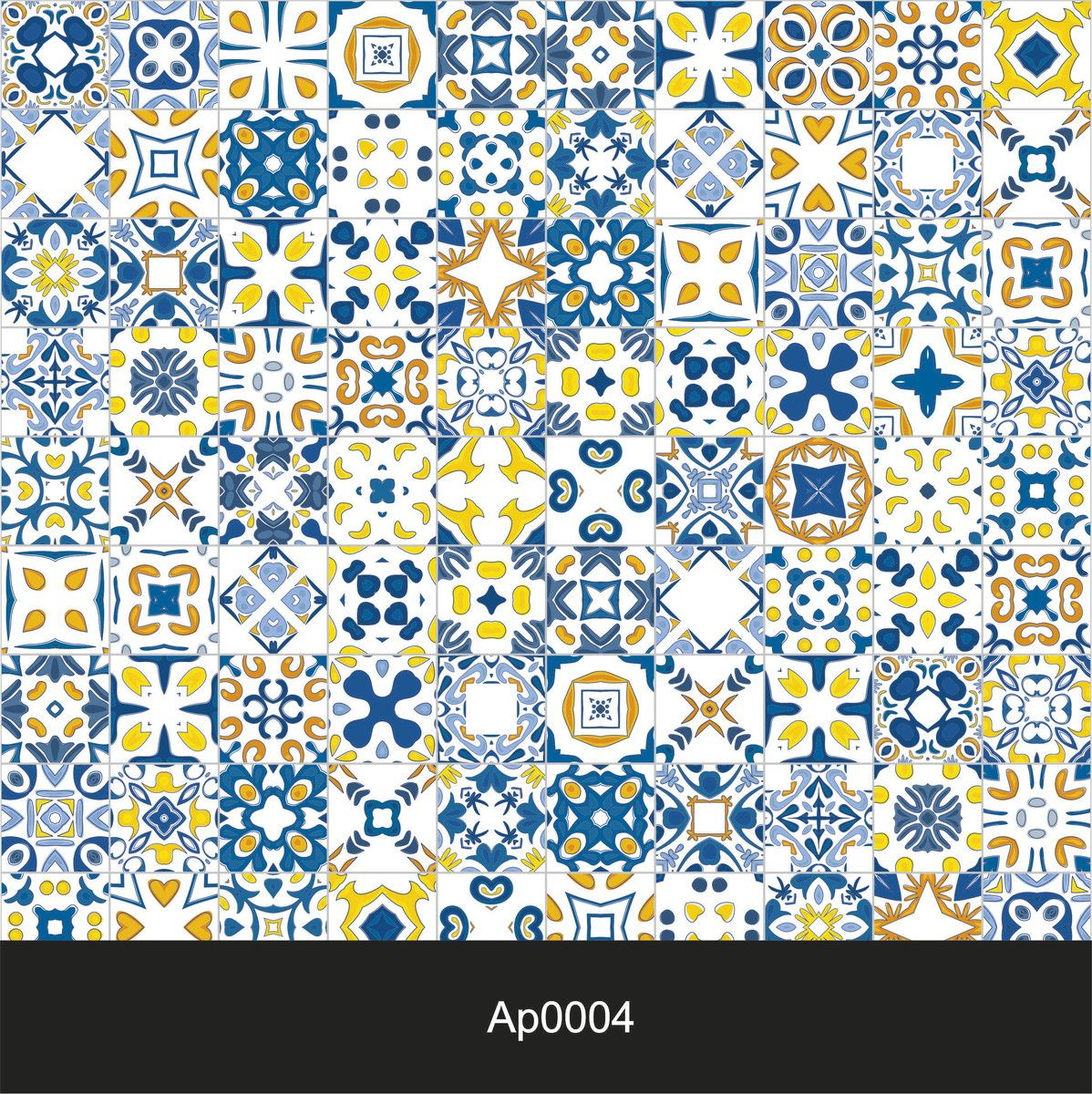 Papel De Parede Azulejo Portugues 04 Colando Arte Papel De Parede  -> Arte Parede Sala