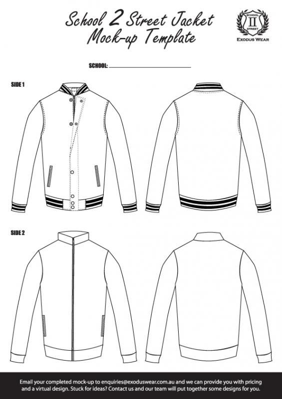 exodus wear school 2 street reversible jacket design template