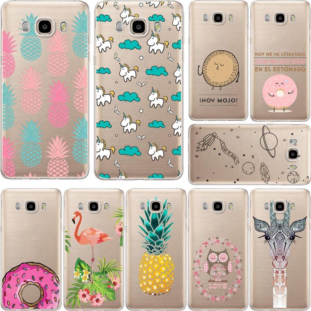 Wonderful Pineapple Unicorn Owl Giraffe Soft Case Cover For Samsung Galaxy S5 S6 S7 Edge A3 A5 J5 J7 A3 Con Imagenes Fundas Para J7 Fundas Para Telefono Fundas Para J7