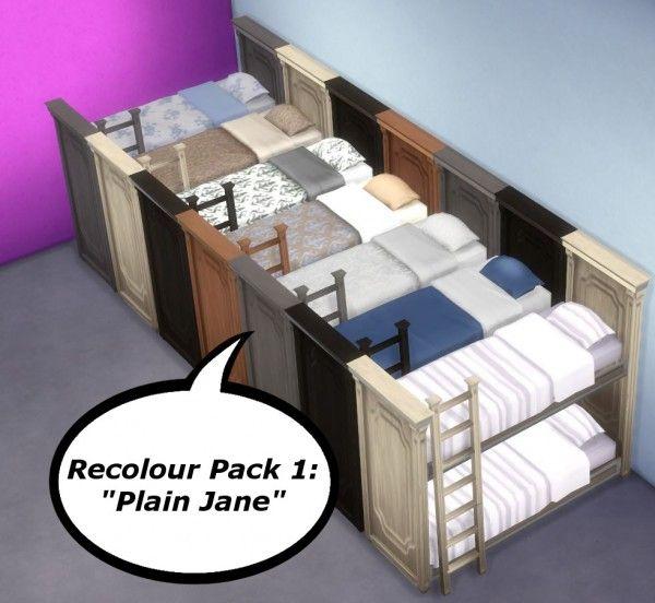 Martine Simblr Functional Bunk Bed O Sims 4 Downloads
