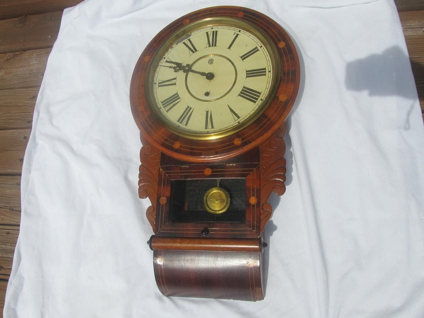 Am americana country wall clocks - Today I Am Offering A Very Rare And Beautiful Waterbury Clock With A Patent Date On