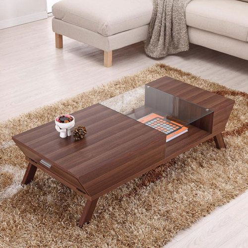 Modern Contemporary Style Glass Insert Coffee Table Ebay Coffee Table Wood Coffee Table Types Of Coffee Tables