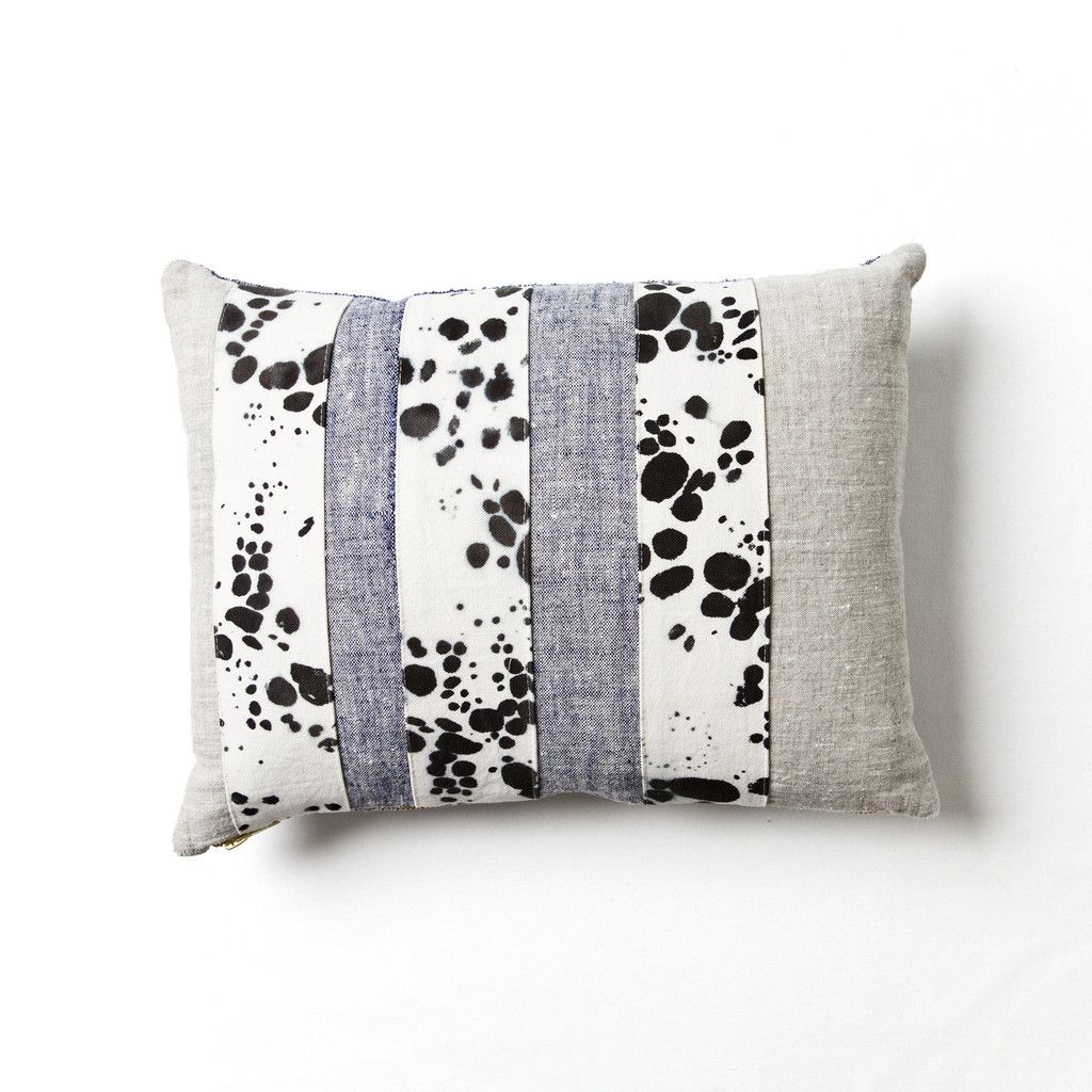 Spots Patchwork Pillow by Rebecca Atwood