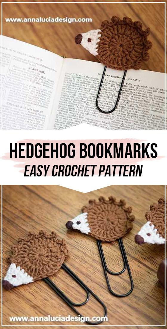 crochet hedgehog bookmarks pattern