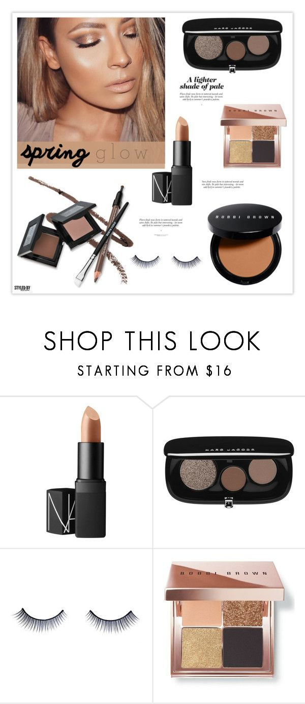 """""""Get Your Spring Glow On!"""" by marion-fashionista-diva-miller ❤ liked on Polyvore featuring beauty, NARS Cosmetics, Marc Jacobs, Napoleon Perdis, Bobbi Brown Cosmetics and springglow"""