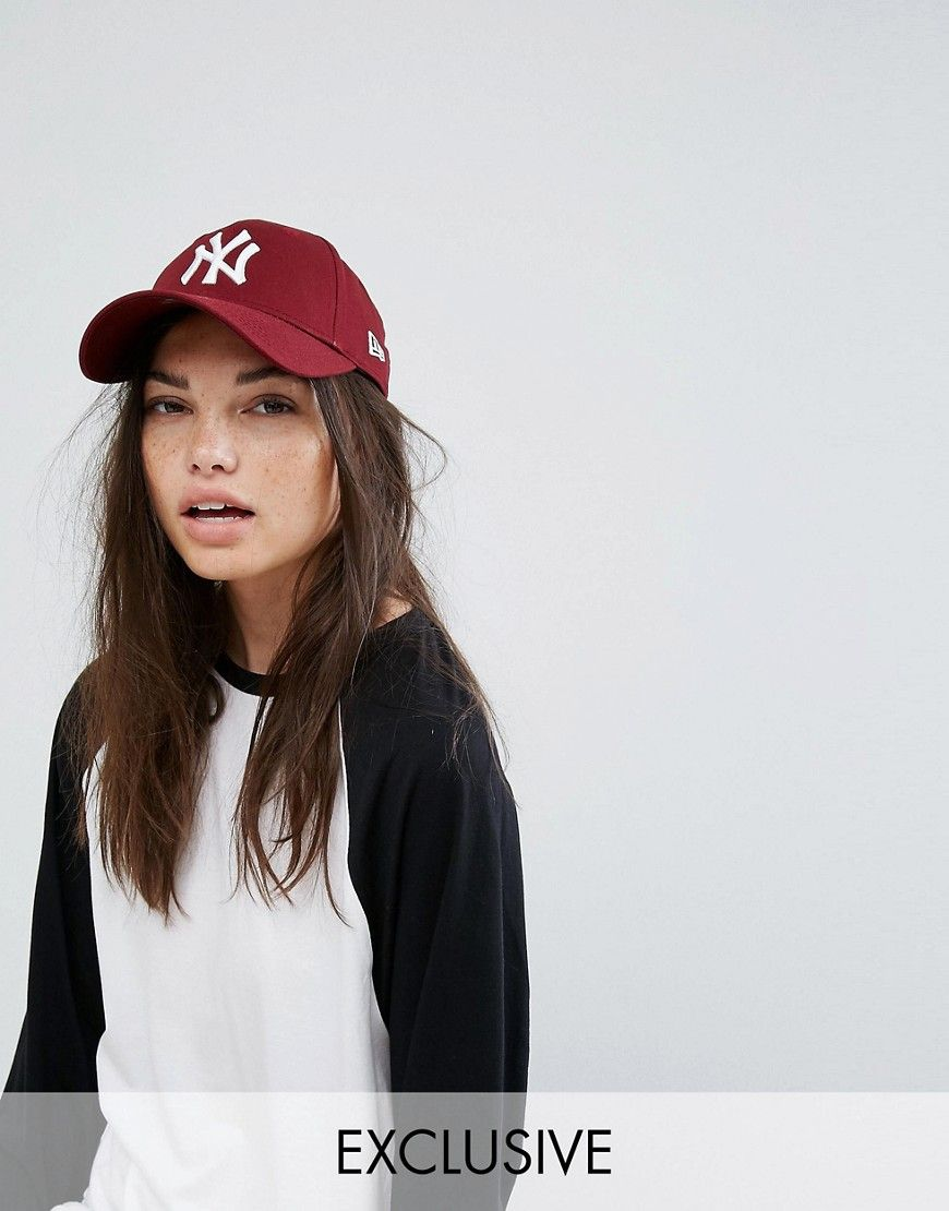 59fb4d2dba83e Get this New Era's cap now! Click for more details. Worldwide shipping. New  Era 9Forty Berry NY Exclusive Cap - Red: Hat by New Era, Cotton twill, ...