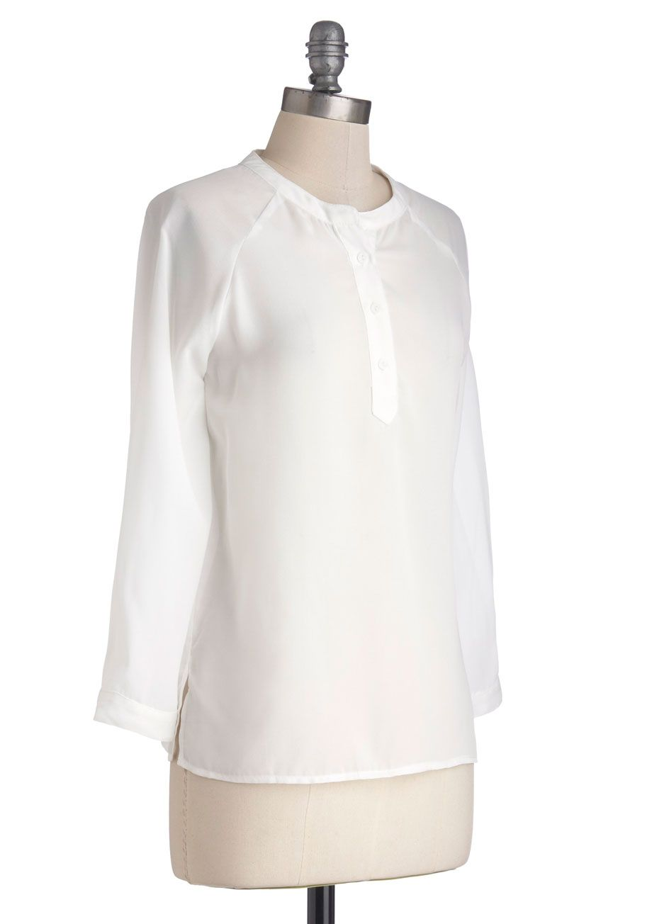 Take Your Word for Lit Top. Given all the hours youve spent in the library getting lost in literary works, you've become perfectly poetic. #white #modcloth