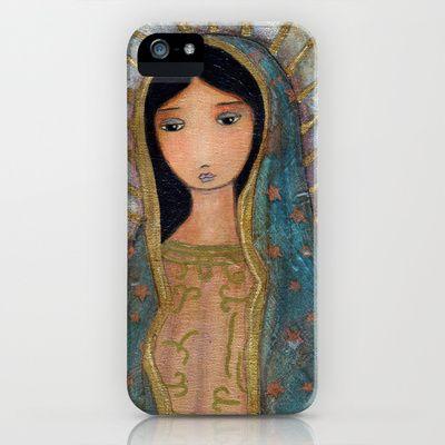 New! Virgen de Guadalupe by Flor Larios iPhone & iPod Case by Flor Larios Art - $35.00
