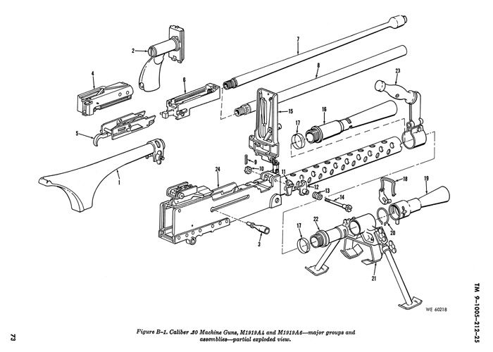 browning 1919 machine gun diagram