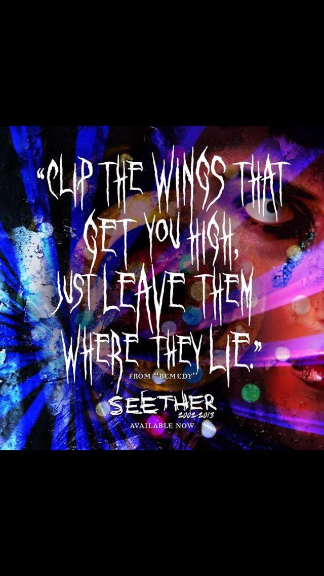 Lyric remedy seether lyrics : Seether remedy lyrics | Lyrics | Pinterest | Lyrics and Remedies