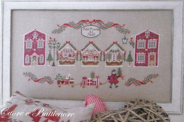 CUORE E BATTICUORE Petit Marche de Noel | cross stitch | Pinterest