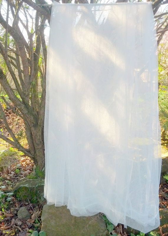 White Outdoor Curtains Sheer Net Lace Garden By TheFiligreeFern