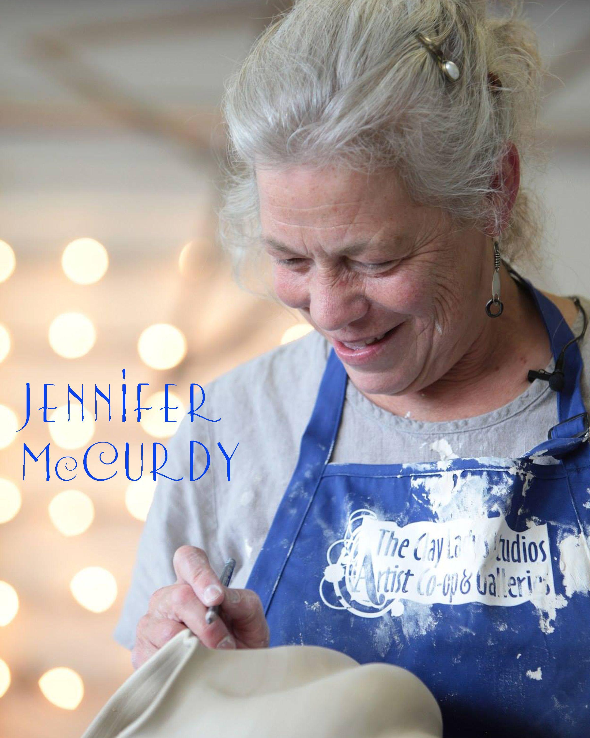Jennifer mccurdy at the clay ladys campus pottery