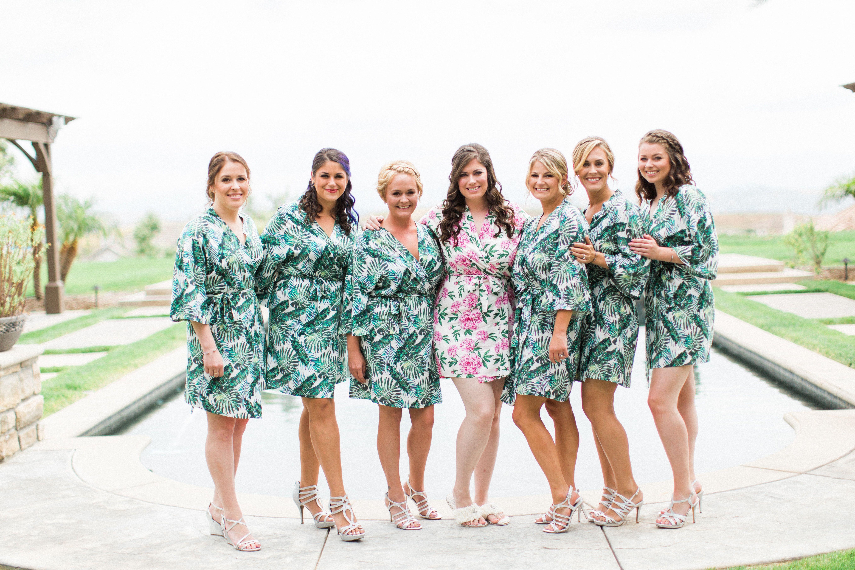 Botanical print robes / destination wedding / tropical wedding ...