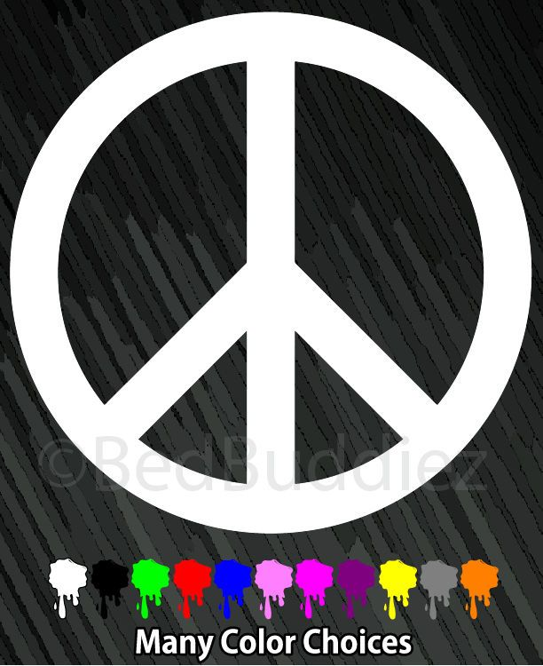 Peace Sign Symbol Decal Decals Sticker For Car Cars Trucks Windows