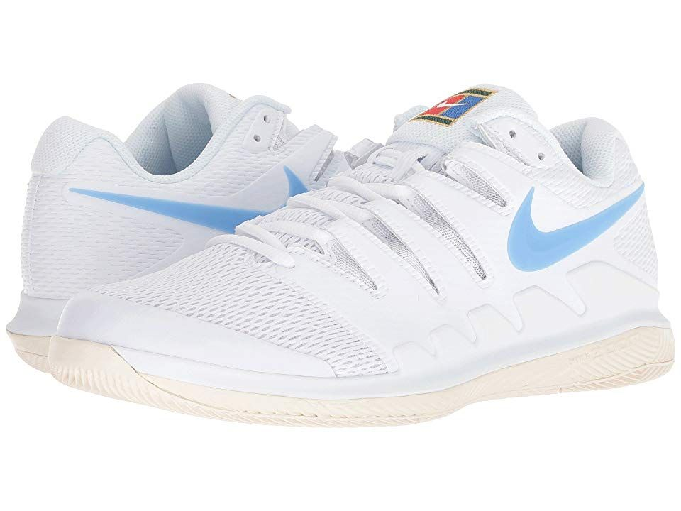 Nike Air Zoom Vapor X White University Blue Light Cream Men S Tennis Shoes Bring Speed And Agility To The Match Wit Nike Air Zoom Platform Tennis Shoes Nike
