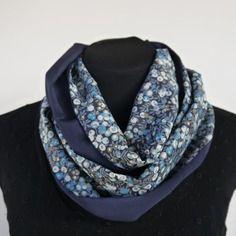 Foulard snood liberty & pure soie  - offre spéciale ce week-end : 1 pochon lin offert pour l'achat de 2 foulards