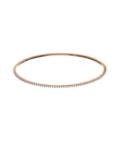 Lana Jewelry Flawless All-Around Diamond Bangle in 14K Rose Gold tjO3J